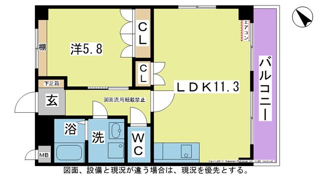 物件番号: 1025101144 Pure Court(ピュアコート)  日田市大字三和財津町 1LDK ハイツ 間取り図