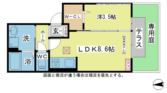 物件番号: 1025104399 カタルパトモダ  日田市大字友田北友田1丁目 1LDK ハイツ 間取り図