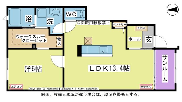 物件番号: 1025104472 ラ・カーザ ドルチェⅡ  日田市吹上町 1LDK コーポ 間取り図