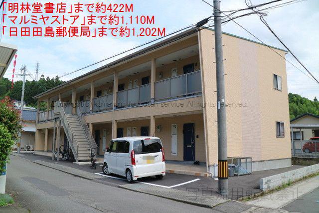 物件番号: 1025104055 カローレ城町  日田市城町2丁目 1K アパート 画像1