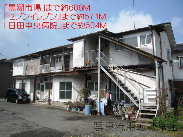 物件番号: 1025103536 貞清アパートD棟  日田市港町 2DK ハイツ 外観画像