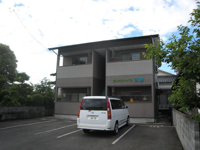 物件番号: 1025103752 グリーンハイツ河野  日田市中城町 1DK コーポ 外観画像
