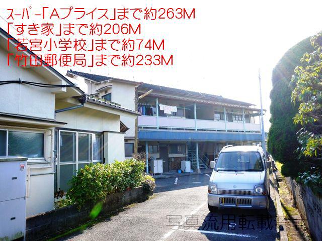 物件番号: 1025102415 藤アパート  日田市若宮町 3K アパート 外観画像