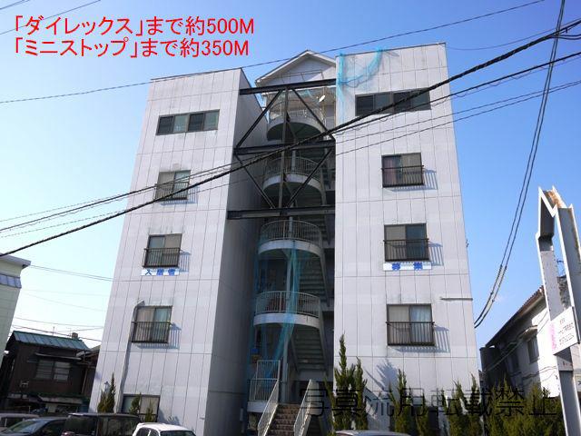 物件番号: 1025102500  日田市亀山町 1K マンション 外観画像